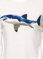 Shark intarsia cotton sweater