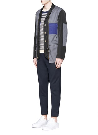 Figure View - Click To Enlarge - Moncler - Cotton French terry jogging pants