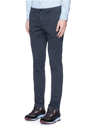 Front View - Click To Enlarge - Moncler - Garment dyed cotton chinos