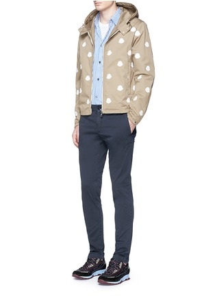 Figure View - Click To Enlarge - Moncler - Garment dyed cotton chinos