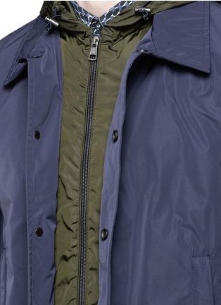细节 - 点击放大 - MONCLER - 拼色双层外套