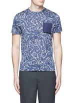 Bandana print cotton T-shirt