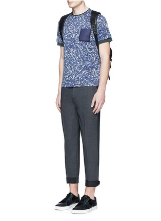 Figure View - Click To Enlarge - Moncler - Bandana print cotton T-shirt
