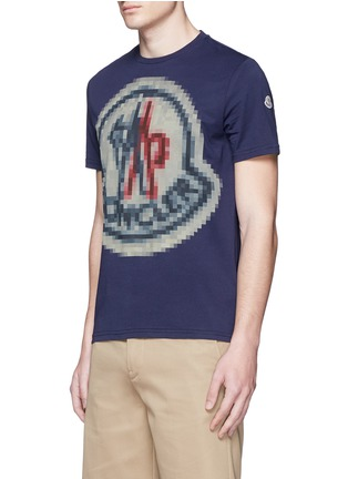 Front View - Click To Enlarge - Moncler - Pixel logo print T-shirt