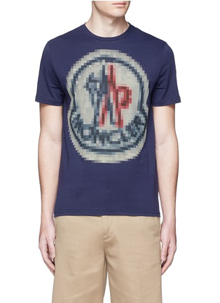 Main View - Click To Enlarge - Moncler - Pixel logo print T-shirt