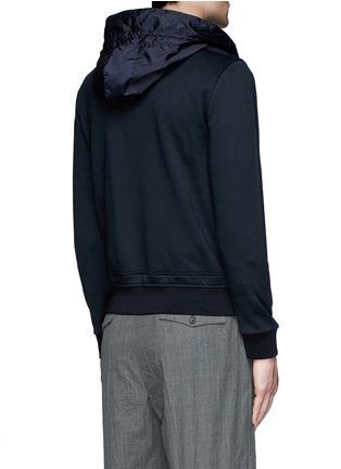 Back View - Click To Enlarge - Moncler - Windbreaker front zip hoodie