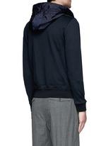 Windbreaker front zip hoodie