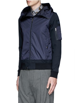 Front View - Click To Enlarge - Moncler - Windbreaker front zip hoodie