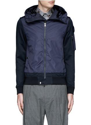 Main View - Click To Enlarge - Moncler - Windbreaker front zip hoodie