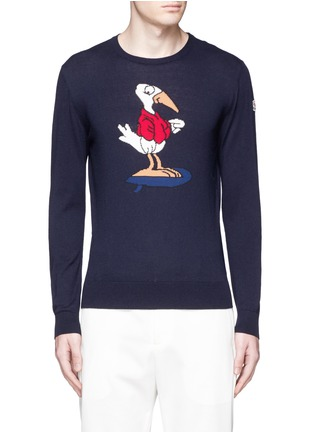 Main View - Click To Enlarge - Moncler - Gallic bird cotton-cashmere sweater