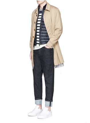 Figure View - Click To Enlarge - Moncler - Quilted down front side stripe zip cardigan