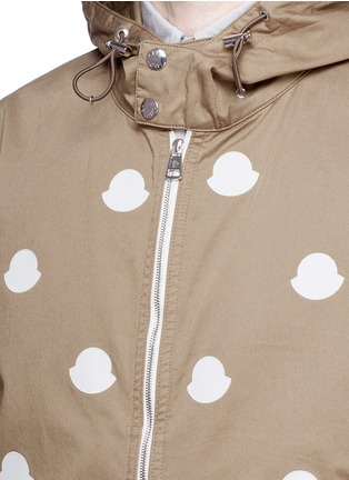 Detail View - Click To Enlarge - Moncler - 'Jehan' empty logo patch hood jacket