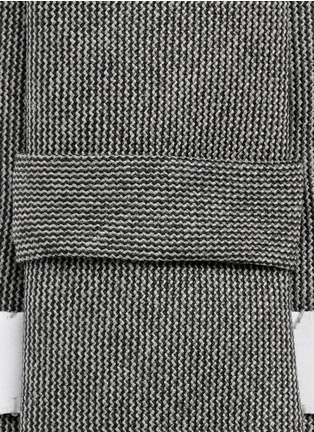 细节 - 点击放大 - THOM BROWNE - 混色羊毛领带