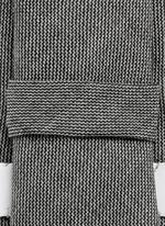 Grosgrain trim wool step twill tie