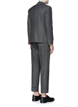Back View - Click To Enlarge - Thom Browne - Wool step twill suit