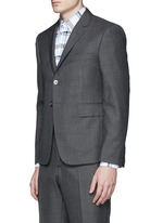 Wool step twill suit