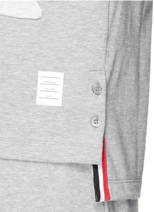 Detail View - Click To Enlarge - Thom Browne - Fish patchwork jersey T-shirt