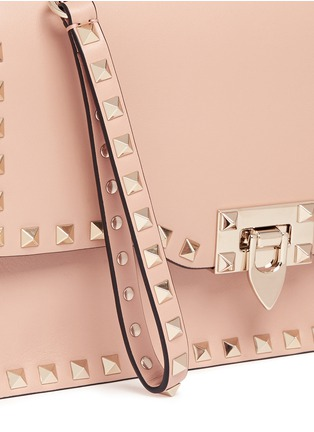 Valentino - 'Rockstud' leather flap clutch
