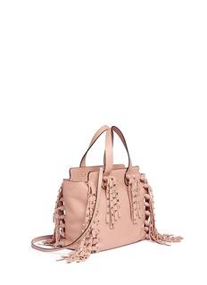 VALENTINO'C-Rockee' small fringe leather tote