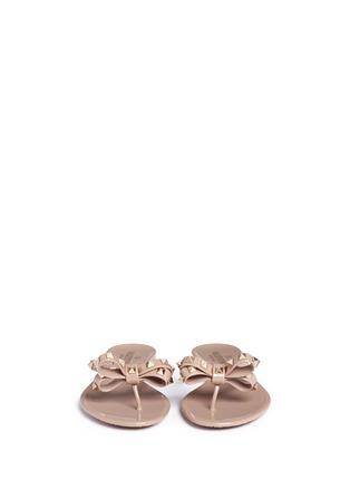 Valentino-'Rockstud' bow flat jelly sandals