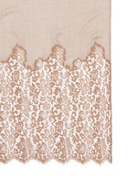 Metallic floral guipure lace cashmere-silk scarf