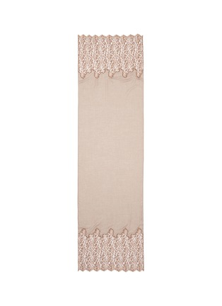 Main View - Click To Enlarge - Valentino - Metallic floral guipure lace cashmere-silk scarf