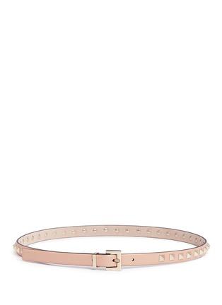 Valentino-'Rockstud' leather slim belt