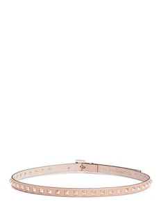 VALENTINO 'Rockstud' leather slim belt