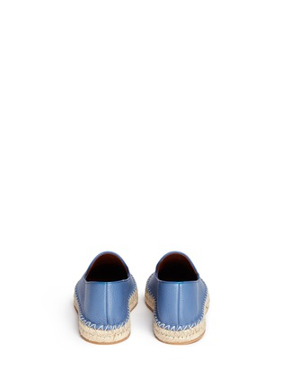 Back View - Click To Enlarge - Valentino - Pebble leather espadrilles