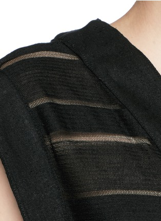 Detail View - Click To Enlarge - Solid & Striped - 'The V' sheer stripe knit pullover dress