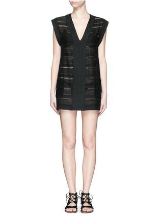 Solid & Striped-'The V' sheer stripe knit pullover dress