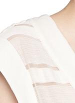 'The Long V' sheer stripe knit pullover dress