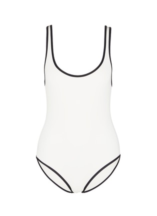 Main View - Click To Enlarge - Solid & Striped - 'The Anne-Marie' low back swimsuit