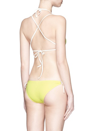 Back View - Click To Enlarge - Solid & Striped - 'The Lily' solid triangle bikini top