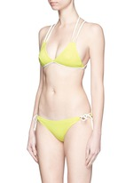'The Lily' solid triangle bikini top
