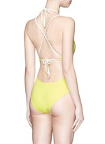 'The Alexandra' plunge lace-up back swimsuit