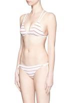 'The Lily' stripe triangle bikini top