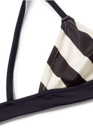 Detail View - Click To Enlarge - Solid & Striped - 'The Morgan' stripe triangle bikini top