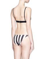 'The Morgan' stripe triangle bikini top
