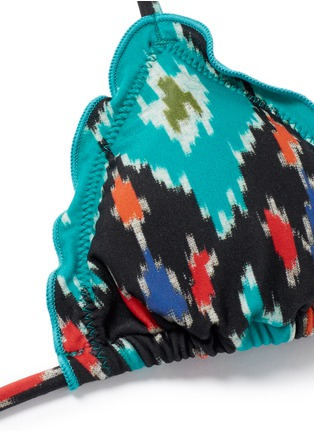 Detail View - Click To Enlarge - ViX - 'Rumis Ripple' ikat print triangle bikini top