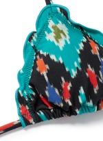 'Rumis Ripple' ikat print triangle bikini top