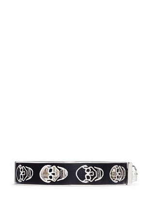 Main View - Click To Enlarge - Alexander McQueen - Skull enamel bangle