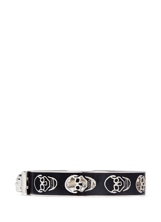 Figure View - Click To Enlarge - Alexander McQueen - Skull enamel bangle