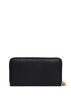 ALEXANDER MCQUEEN Skull charm leather continental wallet