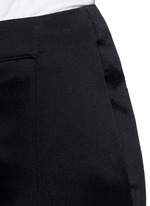 Tailored slim flare cady pants