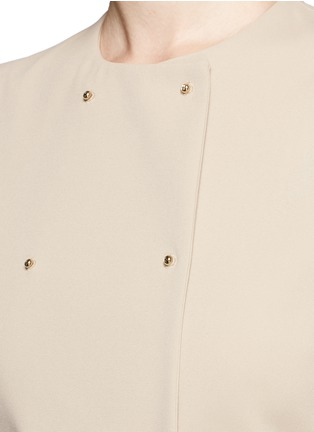 Detail View - Click To Enlarge - Esteban Cortazar - 'Portefeuille' chiffon ruffle cady gown