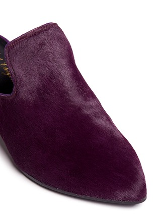 Detail View - Click To Enlarge - Robert Clergerie - 'Vadra' suede trim pony hair mules