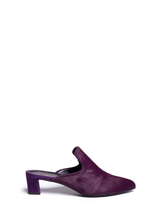 Main View - Click To Enlarge - Robert Clergerie - 'Vadra' suede trim pony hair mules