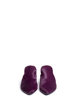 Figure View - Click To Enlarge - Robert Clergerie - 'Vadra' suede trim pony hair mules