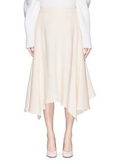 STELLA MCCARTNEYAsymmetric hem wool crepe skirt